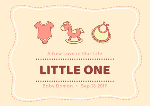 Baby Birth Announcement Card Design
