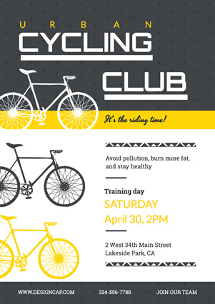 Club Recruit Cycling Club Flyer Design