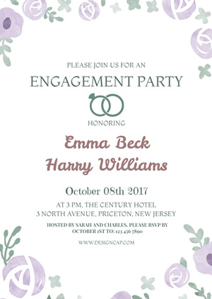 Elegant Engagement Party Invitation Design
