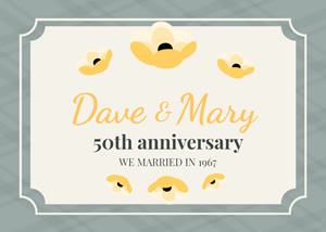 50th Anniversary Card Design
