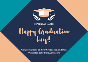 Geometric Graduation Card Design