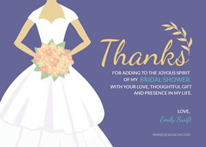 Wedding Bridal Shower Card Design