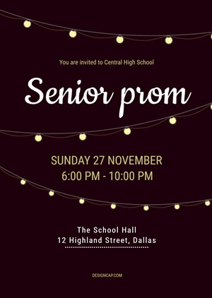 Grand Senior Promenade Invitation Design