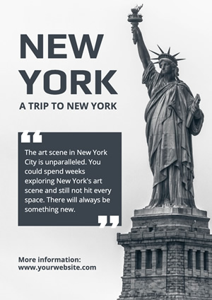 Liberty Statue New York Poster Poster Design