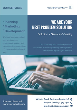 Blue Consulting Service Business Flyer design