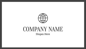 Company Card in White Business Card Design