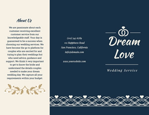Love Wedding Brochure Design