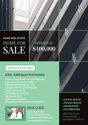 Real Estate Apartment Flyer design