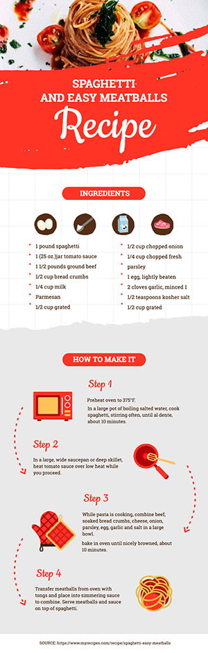 Pasta Recipe Infographic Design