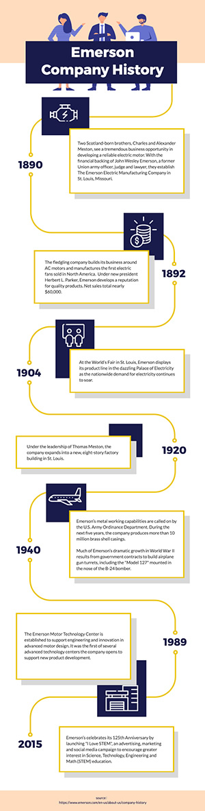 Company History Overview Infographic Design