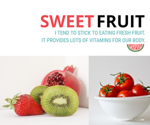 Sweet Fruit Facebook Post Design