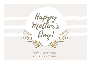Floral Mothers Day Card Design