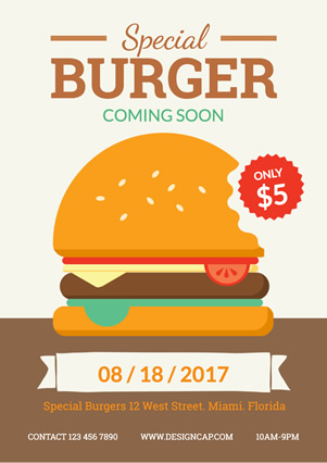 Catering Special Burger design