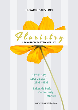 Education Class Floristry Poster Design