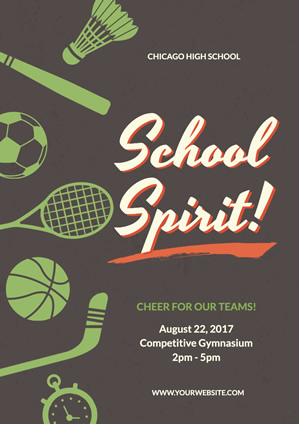 Sport School Spirit Poster Design