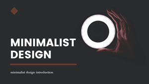 Minimalist Design Introduction Presentation Design