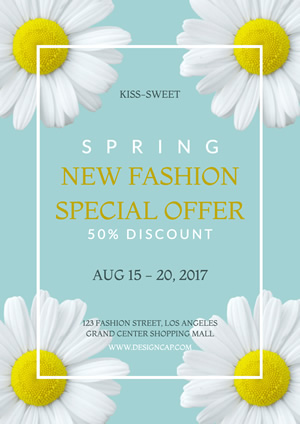 Sale Spring Discount Poster Design