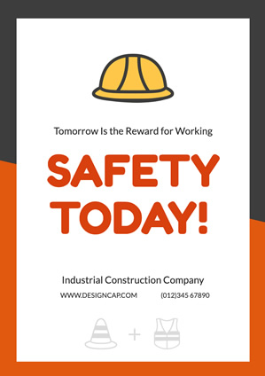 Safety Poster Industrial Poster Design
