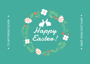 Garland Easter Card Design