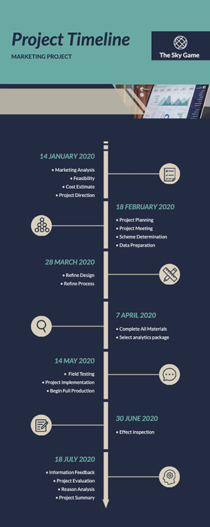Project Timeline Infographic Design