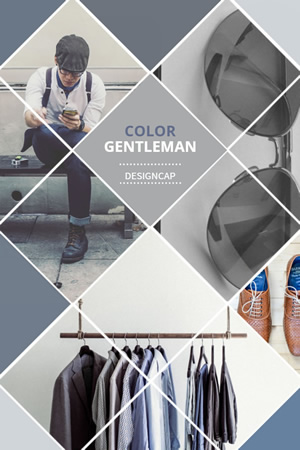Men's Clothes Promo Pinterest Graphic Design