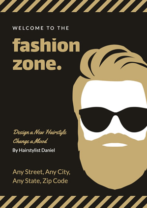 Brown Fashion Hipster Poster Design
