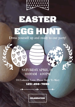 Colorful Easter Egg Hunt Flyer design