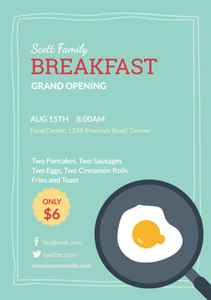 Catering Breakfast Flyer design