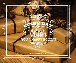 Happy Holiday Facebook Post Design