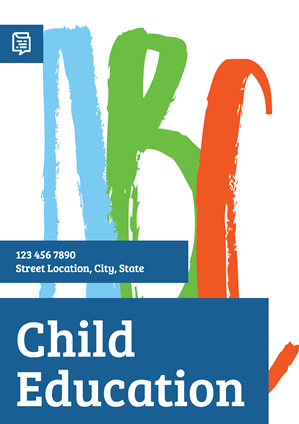 Simple Child Education Abc Poster Design