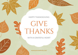 Simple Thanksgiving Card Design