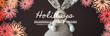 Holiday Twitter Header design