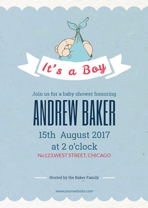 Lovely Baby Shower Party Invitation Design