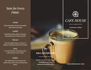 Cafe Shop Brochure Design