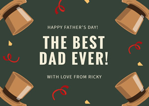 Creative Fathers Day Card Design