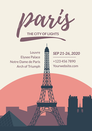 Eiffel Tower Paris Poster Design