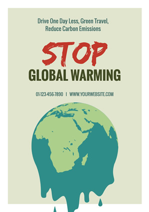 Melting Earth Global Warming Poster design