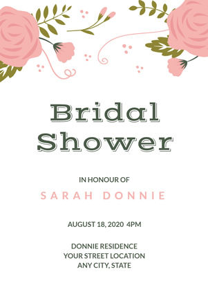 Wedding Bridal Shower Invitation Design