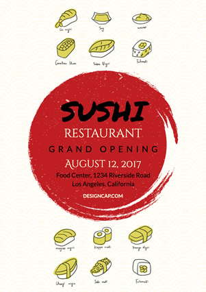 Catering Sushi Flyer Flyer Design