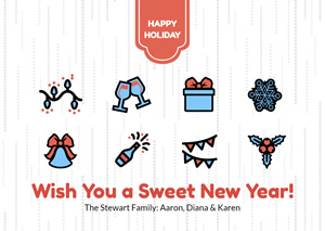 Celebrate New Year Card Design