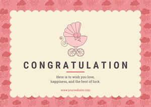 Baby Congratulation Card Design