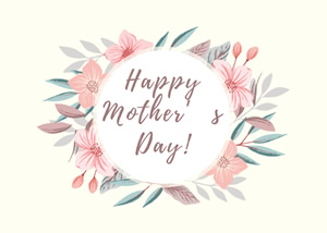 Flower Mothers Day Card Design