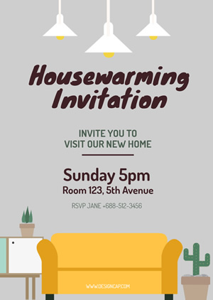 Modern Housewarming Invitation Design