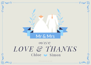 Simple Love And Thanks Card Design