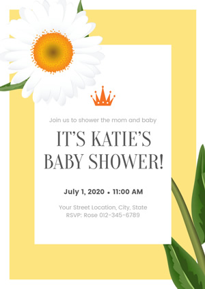 Graceful Baby Shower Invitation Design
