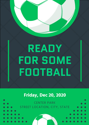 Football Party Invitation Design