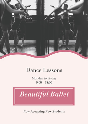 Ballet Dance Lesson Flyer Design
