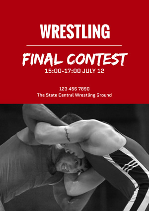 Wrestling Final Contest Poster Design