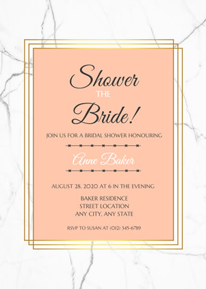 Simple Bridal Shower Invitation Design