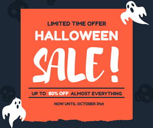 Spooky Halloween Sale Facebook Post Design